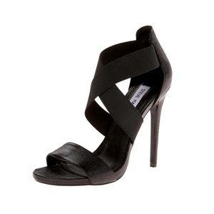 Steve Madden Maarla Heels Leather Peep Toe Black